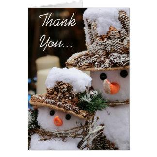 Christmas Snowmen Thank You Card