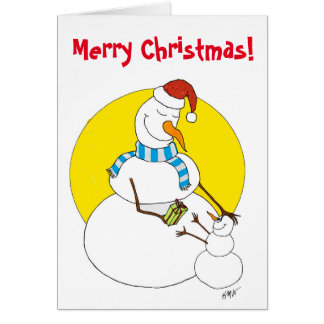 Christmas: Snowpeople Card
