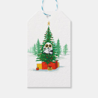 Christmas Snowy Owl Gift Tags