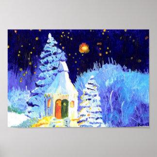 Christmas Snowy Scene ! Poster