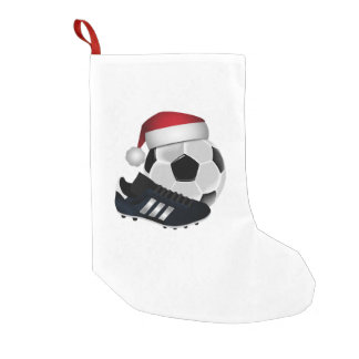 Christmas Soccer Ball and Shoe Small Christmas Stocking