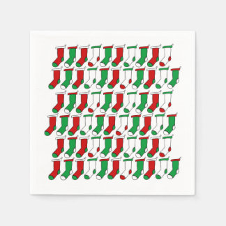 Christmas Socks Christmas Party Paper Napkins