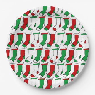 Christmas Socks Christmas Party Paper Plates