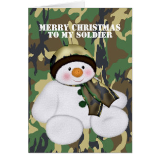 Christmas Soldier Snowman Card