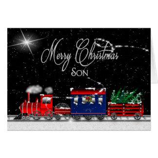 Christmas - SON - Snowy Night-Train Card