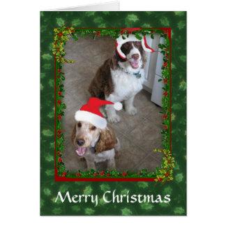 Christmas Spaniel Pets Santa's Helpers Card