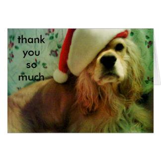CHRISTMAS SPANIEL THANK YOU CARD