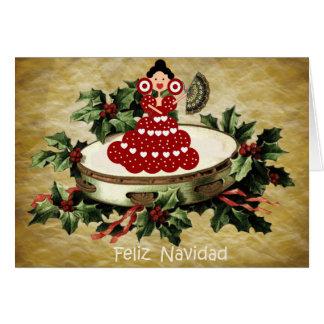 Christmas Spanish style, fan and gitanilla Card