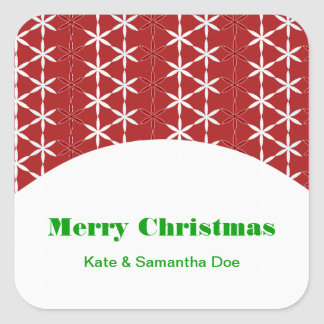 Christmas Sparkle Label Sticker