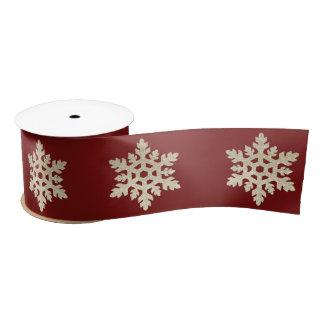 Christmas Sparkle Winter Snowflake Ribbon Satin Ribbon