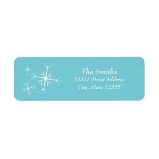 Christmas Sparkling Snowflake Address Label