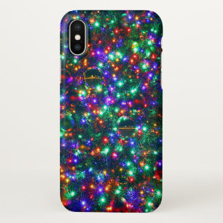 Christmas Sparkling Stars iPhone X Case
