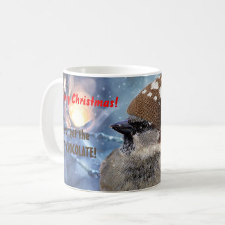 Christmas Sparrow Hot Chocolate Coffee Mug