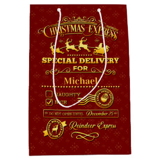 Christmas Special Delivery Medium Gift Bag