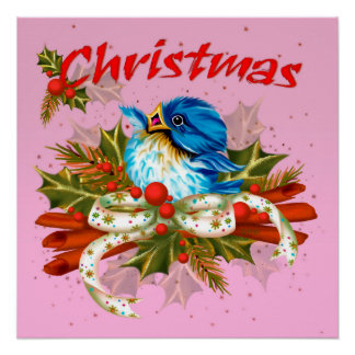 CHRISTMAS SPICE BIRD Perfect Poster Glossy Finish