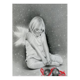 Christmas Spirit Angel Elf Postcard