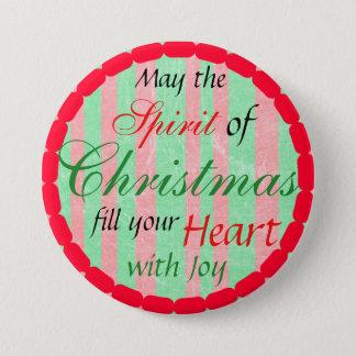 Christmas Spirit Holiday Season Button