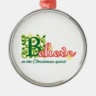 Christmas Spirit Metal Ornament