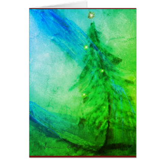 Christmas Splendor Christmas tree greeting card