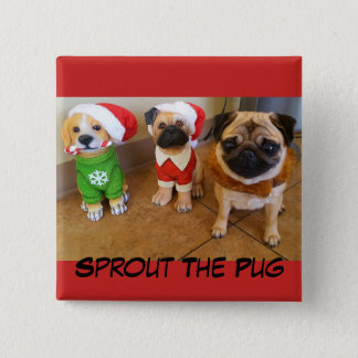 Christmas Sprout on a Button