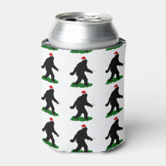 Christmas Squatch - Squatchin' with Candy Canes Can Cooler