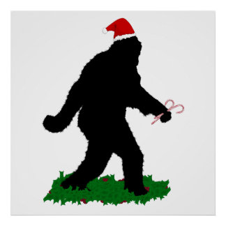 Christmas Squatchin' Posters