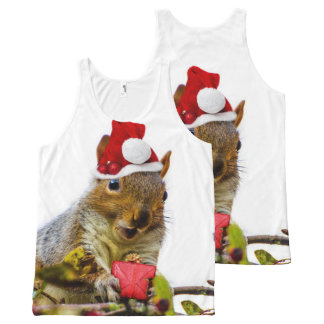 Christmas Squirrel all over print tank top
