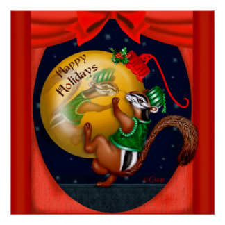 CHRISTMAS SQUIRREL PERFECT POSTER