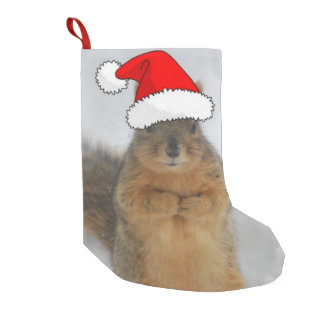 Christmas Squirrel Small Christmas Stocking
