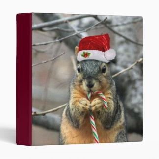 Christmas Squirrel Vinyl Binders