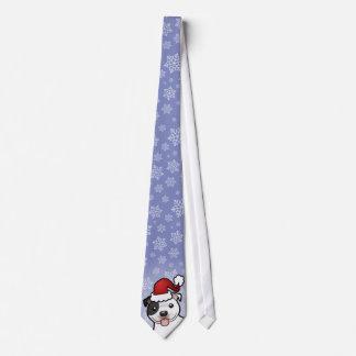 Christmas Staffordshire Bull Terrier Tie
