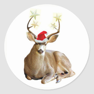 Christmas Stag Stickers