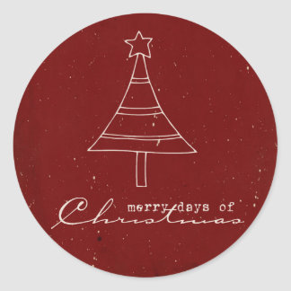 Christmas Stamps Classic Round Sticker