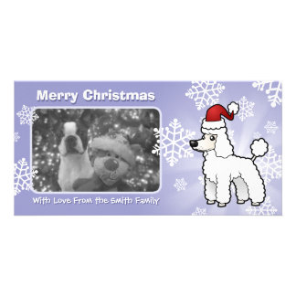 Christmas Standard/Miniature/Toy Poodle puppy cut Customized Photo Card