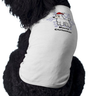 Christmas Standard/Miniature/Toy Poodle puppy cut Pet T-shirt