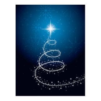 Christmas Star and Snowflakes Postcard