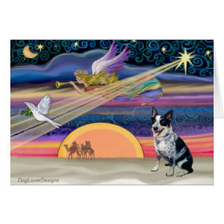 Christmas Star - Australian Cattle Dog Card