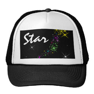 Christmas Star Black Trucker Hat