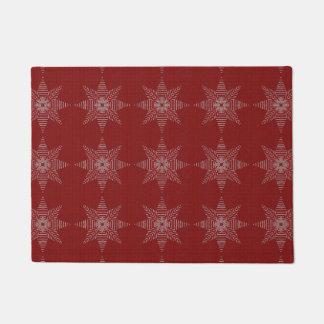 Christmas Star Cross Stitch Pattern Doormat
