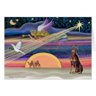 Christmas Star - Doberman (red) Card