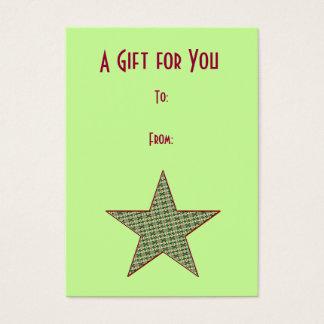 Christmas Star Gift Tags