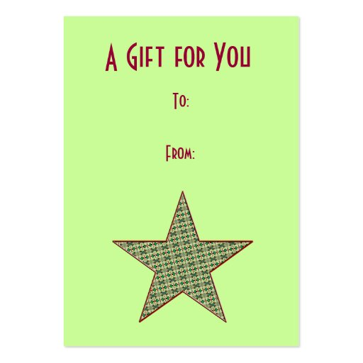 Christmas Star Gift Tags Business Card