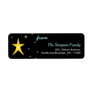Christmas Star Holiday Return Address Label