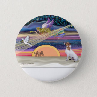 Christmas Star - Jack Russell Terrier 2 Inch Round Button