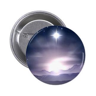 Christmas Star of Bethlehem Nativity Buttons