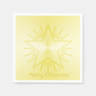 Christmas Star of Gold Paper Napkins by Janz