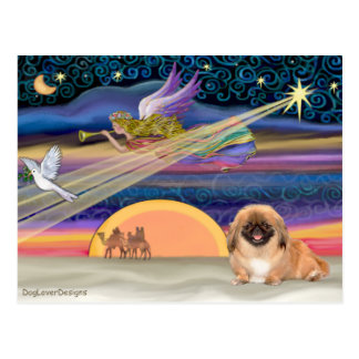 Christmas Star - Pekingese #1(red) Postcard