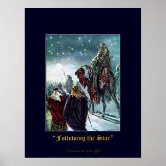CHRISTMAS STAR Vintage Poster