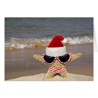 Christmas Starfish on Vacation Card