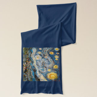 Christmas Starry Night after Vincent Van Gogh Scarf